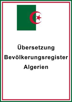 Bevölkerungsegister Algerien