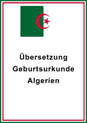 Geburtsurkunde Algerien