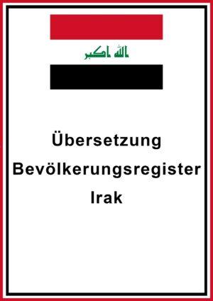 Bevölkerungsregister Irak