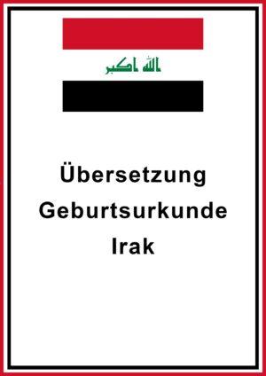 Geburtsurkunde Irak
