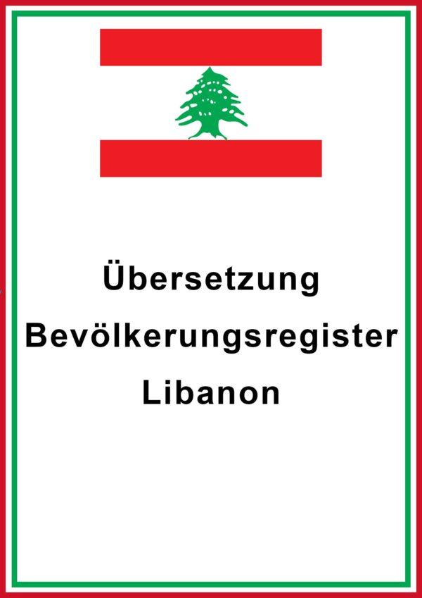 libanon bevoelkerungsregister