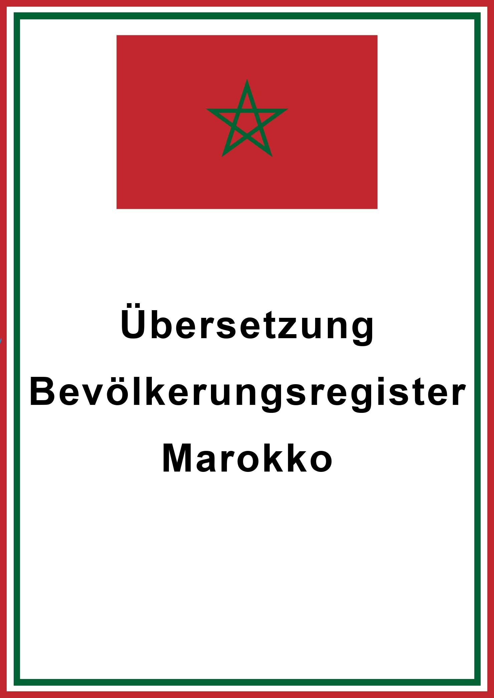 marokko bevoelkerungsregister