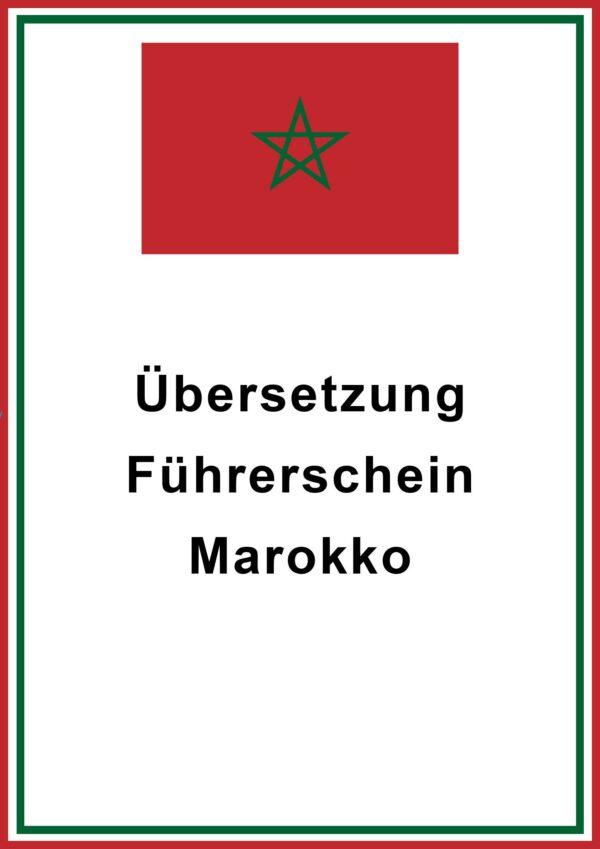 marokko fuehrerschein